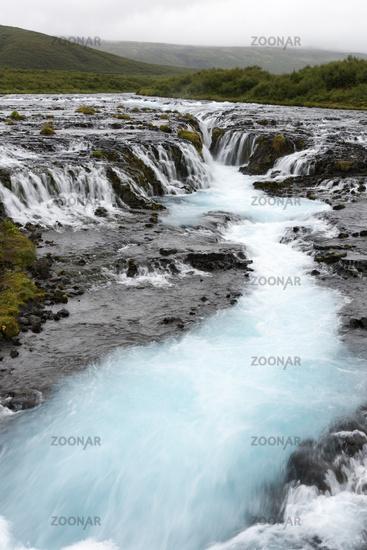 Waterfall Bruarafoss, Southwest iceland