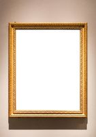 vertical narrow vintage picture frame on wall