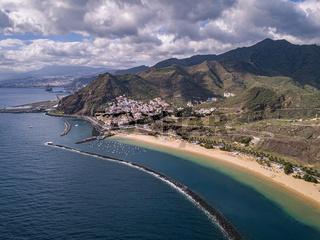 Playa de las Teresitas Aerial view