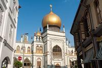 Singapur, Republik Singapur, Sultan-Moschee (Masjid Sultan) im Muslimischen Viertel (Kampong Glam)