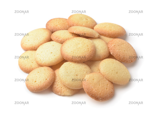 Pile of small round cookies