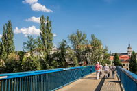 Weißenfels, Germany - 06/18/2019 - blue bridge to the old town