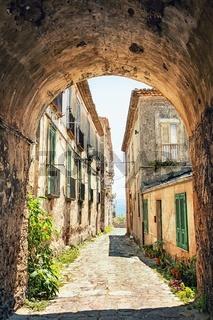 Beautiful old street in Tuscany