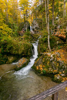 Waterfalls and Slopes. Myra Falls in Lower Austria.