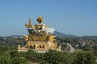 THAILAND CHIANG KHONG WAT PLA BUEK TEMPLE