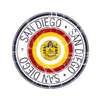 City of San Diego, California vector stamp