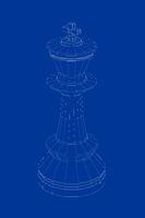 3d model of chess king