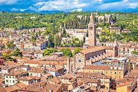 Verona Basilica di Santa Anastasia and Castel San Pietro view