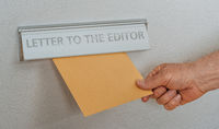 A letterbox with the inscription Letter to the editor