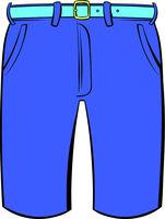 Men shorts icon cartoon