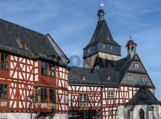 Altstadt von Bad Camberg mit Fachwerkhäusern, Hessen, Deutschland