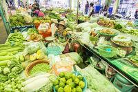 THAILAND KAMPHAENG PHET MARKET FOOD VEGETABLE