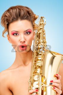 Retro jazz music.