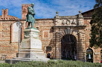 vicenza, italy - 19.03.2019 - Old statue at the Olimpico Theater