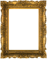 Old Golden Frame Cutout
