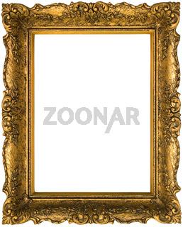 Old Golden Frame Cutout