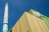 Building of a biomass power plant