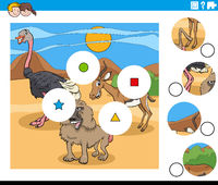 match pieces task with cartoon animal characters