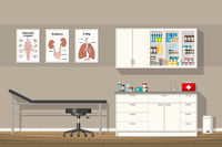 Illustration of a doctor office