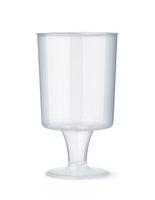 Stemmed disposable sampling shot glass