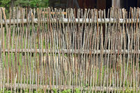 Traditional wattle fence in Estonia