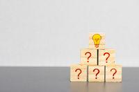 Frage und Lösung mit Kreativität