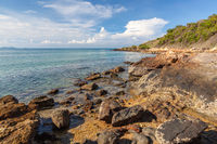 Rayong Thailand, sea rock landscape