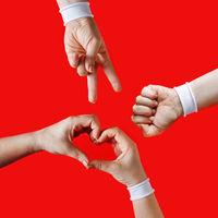 Hands show gestures