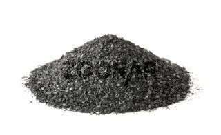 Pile of black natural salt