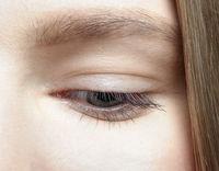 Closeup macro shot of  human female eye.