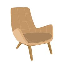 Illustration of a brown armchair