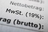 Mehrwertsteuer or MWSt - value-added tax in German - on receipt