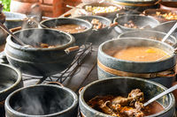 Typical Brazilian cuisine in some clay pots