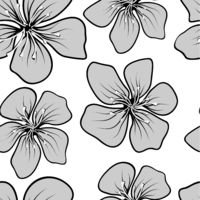 Vintage design template for wallpaper design. Floral seamless vector pattern. Gray collage. Line texture background. Floral background.