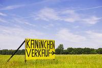 Promotional sign near Ludwigslust, Mecklenburg-West Pomerania, Germany