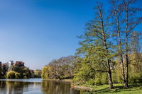 berlin, germany - 04/09/2019 - shore at lietzen lake