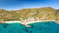 The beach Kalamos in Evia island, Greece