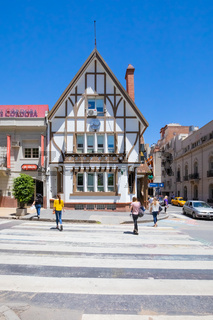 Cordoba Argentina house in english style in a sunny day