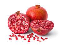 Big ripe pomegranate