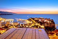 Monte Carlo and Monaco cityscape colorful evening view