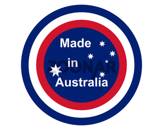 Qualitätssiegel Made in Australia - Quality seal made in Australia