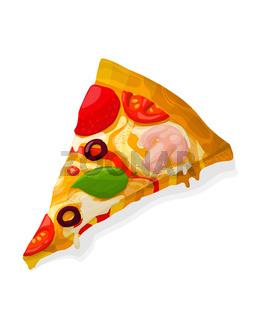 Vector pizza slice