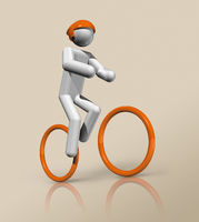Cycling Mountain Bike 3D icon, Olympic sports