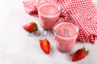 Strawberry milkshake or smoothie