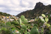 Vallehermoso on the island of La Gomera