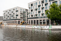 Berlin, Germany, New residential buildings at the Humboldt Harbour in Moabit
