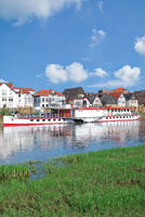 Minden at Weser River in Weserbergland,North Rhine westphalia,Germany