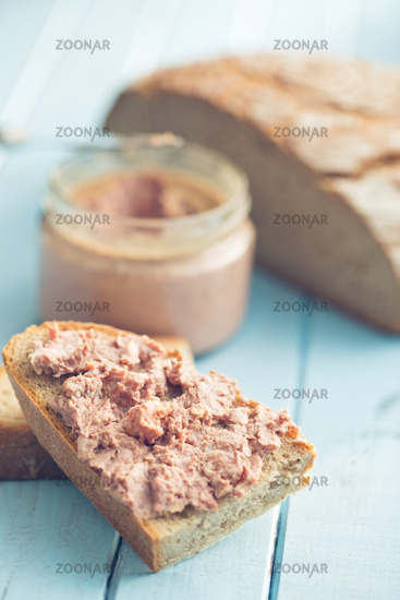 the pate with bread
