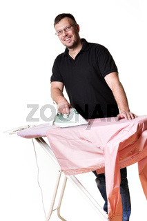 Man doing housework