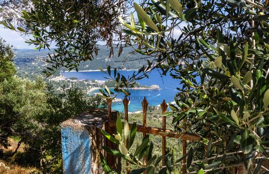 View of the bay of Paleokastritsa on Corfu